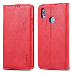 Huawei P Smart 2019 - Praktiskt Stilrent Plånboksfodral Röd