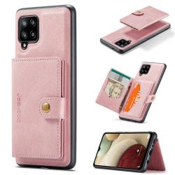 Samsung Galaxy A42 - Stilsäkert Skal med Korthållare Roséguld