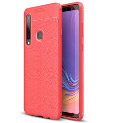 Samsung Galaxy A9 2018 - Praktiskt Skyddsskal AUTO FOCUS Röd
