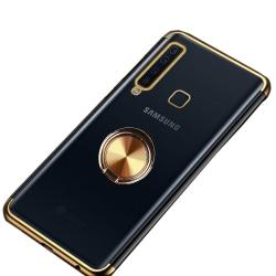 Samsung Galaxy A9 2018 - Robust Skyddsskal med Ringhållare Guld