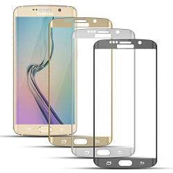 Samsung S6 Edge - HeliGuard EXXO-Skärmskydd 3D (2-PACK) HD-Clear Clear+Vit