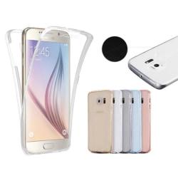 Samsung S8 Dubbelsidigt silikonfodral med TOUCHFUNKTION Genomskinlig