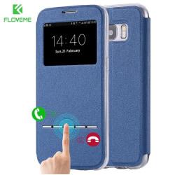 Samsung S8 Smartfodral med fönster och svarsfunktion Blå