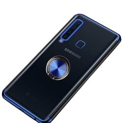 Silikonskal med Ringhållare - Samsung Galaxy A9 2018 Blå