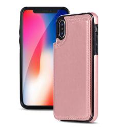 Skal med Plånbok för iPhone XR Roséguld
