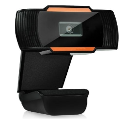 12MP pixlar HD 360 Webcam USB PC Laptop Kamera Svart Svart