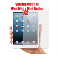 2x Skärmskydd till iPad Mini / Mini retina Transparent