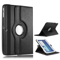 "360 Rotation fodral Samsung Tab 3 10.1"" - Svart Svart"