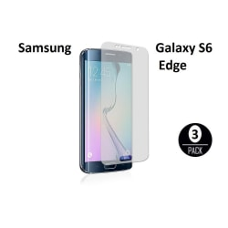3st Skärmskydd till Samsung Galaxy S6 Edge + Putsduk Transparent