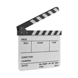 KlappBräda Klappa Film Inspelning med penna - Vit & Svart Vit