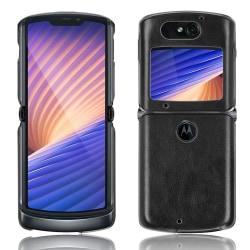 Motorola Razr 5G/Razr (2020) TPU skal Litchi Texture - Svart Svart