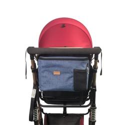Barnvagnsväska praktisk väska till barnvagnen Blå