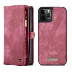 CASEME iPhone 12 / iPhone 12 Pro Retro plånboksfodral - Röd Röd