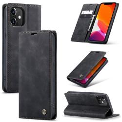 CASEME Plånboksfodral iPhone 12 / 12 Pro - Svart Svart
