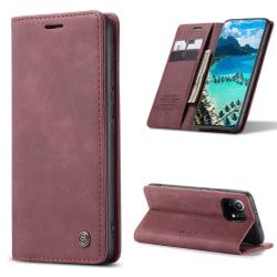 CASEME Plånboksfodral Xiaomi Mi 11 - Vinröd Röd