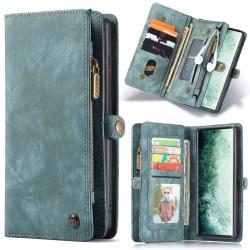 CASEME Samsung Galaxy Note 20 Retro läder plånboksfodral Blå