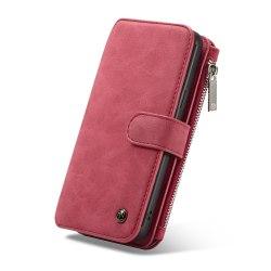 CASEME Samsung Galaxy S9+ Plus Retro läder plånboksfodral - Röd Röd
