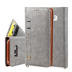 CMAI2 Litchi plånboksfodral Samsung Galaxy S8 Plus - Grå grå