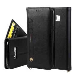 CMAI2 Litchi plånboksfodral Samsung Galaxy S8 Plus - Svart Svart