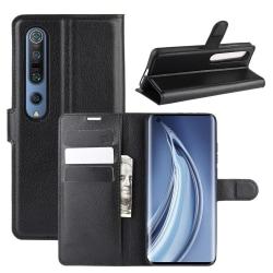 Litchi  Xiaomi Mi 10 / Mi 10 Pro Plånboksfodral - Svart Svart