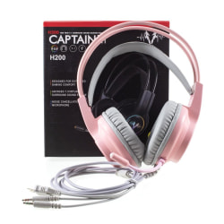 G12 Stereoljud Gaming Headset Over Ear-hörlurar med mikrofon - R Rosa