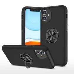 iPhone 11 Hybrid skal med Finger Ring - Svart Svart