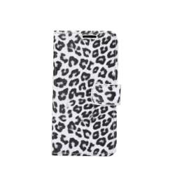 iPhone 11 Pro Max Plånboksfodral Fodral Leopard - Vit Vit
