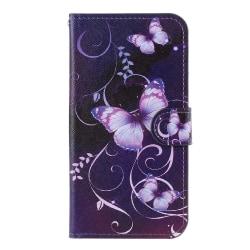 iPhone 11 Pro Max Plånboksfodral - Purple Butterflies Lila