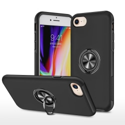 iPhone SE/8/7/6/6S Hybrid skal med Finger Ring - Svart Svart
