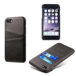 KSQ iPhone 8 / 7 / SE 2020 Skal med kortplats - Svart Svart