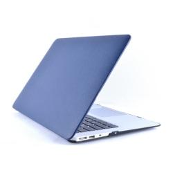 """LäderTäckt Skal Till MacBook Air 11"""" MörkBlå"""
