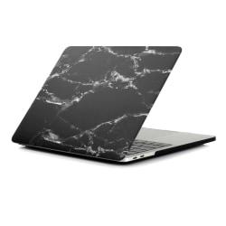 MacBook Air 13.3 A1932 (2018) + Retina-modellen Skal - Marmor Sv Svart