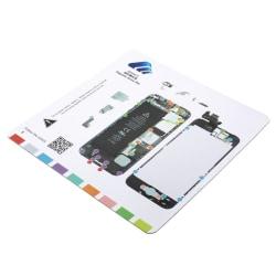 Magnetisk skruvmatta för iPhone 5 Vit