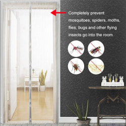 Myggnät till dörrar och fönster 90 x  210 cm Vit