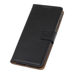 Nokia 3.2 Plånboksfodral läder  - Svart Svart
