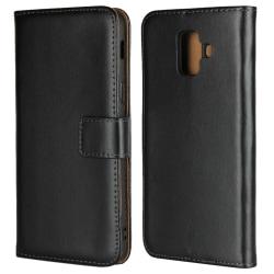 Samsung Galaxy A6 Plus (2018) Plånboksfodral  - Svart Svart