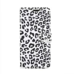Samsung Galaxy S10e Plånboksfodral Fodral Leopard - Vit Vit