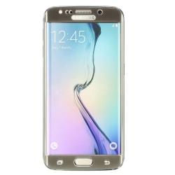 Samsung Galaxy S6 Edge Härdat glas Electroplating - Guld Transparent