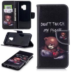 Samsung Galaxy S9 Plånboksfodral - Bear Don't touch my phone