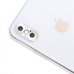 Skyddande Kamera lins till iPhone X - Silver