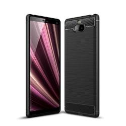Sony Xperia 10 Plus Karbon fiber texture Skal - Svart Svart