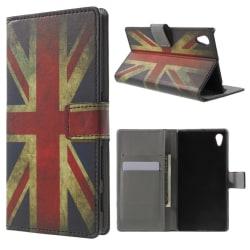 Sony Xperia Z5 Plånboksfodral Vintage UK Flag Svart