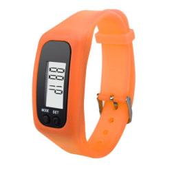 Stegräknare Pedometer Klock-modell Skön att bära - Orange Orange