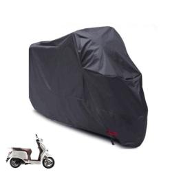 Vattentät MotorCykel Moped Skydd Regn Uv Stoft Storlek L - Svart Svart