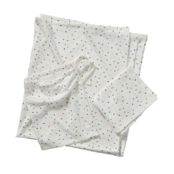 Newborn Baby Bäddset/Sängkläder i bambu -Offwhite flerfärgstryck White one size