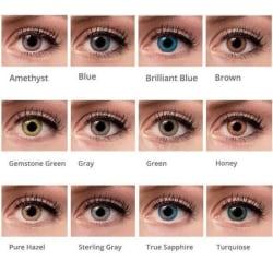 Färg linser |  12 månaders linser Ögonlinser |  ALLA FÄRGER Brown
