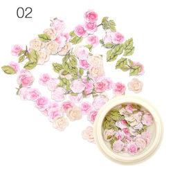 1 låda Torkade blommor Nageldekorationer Färgglada Naturliga torra F A2