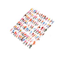 100st mini målade modellfigurer 1: 150 stående sittande modell s