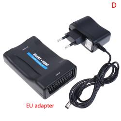 1080P Scart till HDMI-omvandlare Audio Upscale Video Adapter för H EU adapter