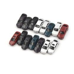 10st Målade modellbilar Byggtågslayout HO 1/100 B.
